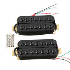 7 String Bridge & Neck Guitar Pickup Set Double Coil Humbucker Black