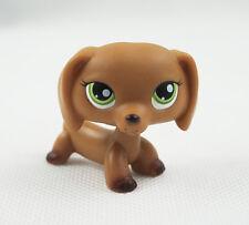 Littlest Pet Shop LPS #139 Dachshund Dog Brown Green Eyes Puppy Animal Toys
