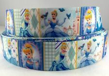 "7/8"" Princess Cinderella Inspired 4 yards Grosgrain Ribbon-printed-Fabric-Craft"