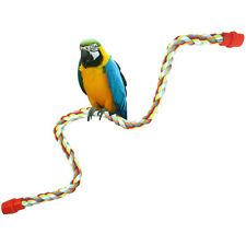 Durable Cotton Pet Bird Parrot Rope Cage Standing Perch Chew Peck Toy Classic AU