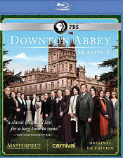 DOWNTON ABBEY SEASON 4 BLU-RAY ORIGINAL UK EDITION (DVD, 2014, 3-DISC SET)
