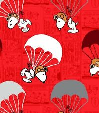 Peanuts Snoopy Flying Ace Parachuting Cotton Fabric by HALF YARD