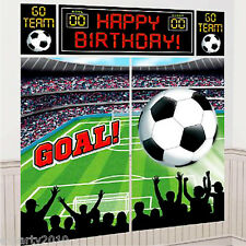 SPORTS SOCCER WALL DECORATING KIT (5pc) ~ Birthday Party Supplies Plastic Poster