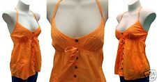 Rip Curl Babydoll Halter Top Size 10 Ripcurl Tikki Orange Surf Shirt RRP$70 New