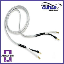 "Analysis Plus ""Silver Oval Two"" Speaker Cables, 12 Gauge, 10ft Length - PAIR"