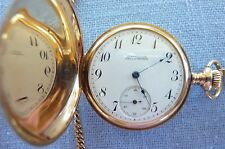 Solid Gold, Double Hunter, Shreve & Co., 14K, 17 Jewel Pocket Watch and Chain