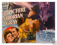 THE PICTURE OF DORIAN GRAY LOBBY CARD POSTER HS 1945 HURD HATFIELD DONNA REED
