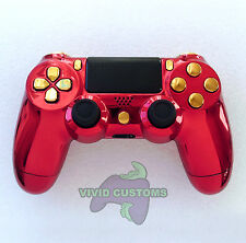 Custom Modified Playstation 4 Dualshock Wireless PS4 Controller - Iron Man