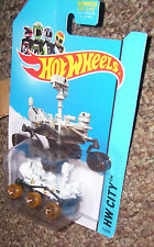 HOT WHEELS Mars Rover Curiosity dirty wheels NASA 71/250 HW City 2014 BLUE CARD