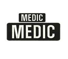 medic embroidery patches  4x10 and 2x5  hook back
