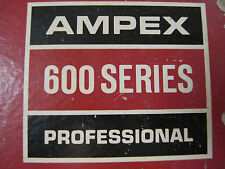 Ampex 600 Series: Empty 7 in vintage tape recorder pvc spool/reel original box