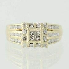 Composite Diamond Ring - 10k Yellow Gold Princess Cut .75ctw