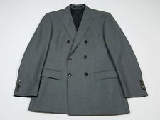 RECENT Hugo Boss The Hives/Sharp Gray Flannel S 130s Double Breasted Suit 38 S