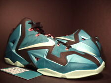 Nike LEBRON XI 11 SOUTH BEACH TURQUOISE GREEN MINT BLACK PINK 616175-330 DS 10.5
