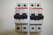 ABB CIRCUIT BREAKER # S202U-K10   2 POLE  10AMPS  240VAC   (SALE IS FOR 2 EA)