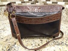 **BEST BUY**  BRAHMIN PURSE BROWN BLACK CROCODILE PATTERN SHOULDER BAG EUC