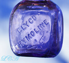 Translucent PURPLE sample DENTIFRICE type bottle GLYCO THYMOLINE from the 1800's