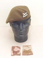 British Army-Issue PWO Yorkshire Regiment Beret, Badge & Desert Slides. 56cm.