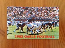 CFB 1982 SAINT ST MARY'S (CALIFORNIA) GAELS Football Schedule FB College