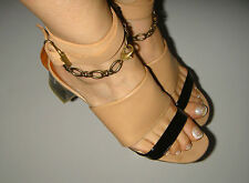 VERY STYLISH AUTHENTIC LANVIN SHOES SANDALS WITH CLEAR HEEL SIZE 39 FAB!