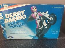 Vintage Ideal 1975 Evel Knievel Derry Daring And Her Trick Cycle Set w/Box Look!