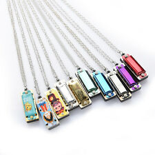 Newly mini 4 Hole 8 Tone Harmonica Necklace Fashion Jewelry JG