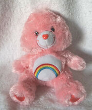 "Care Bears pink CHEER Bear Cuddly Fuzzy Silky Fur 6"" Plush Stuffed Animal Toy"