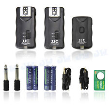 JJC 2.4GHz Wireless Remote Control & Flash Trigger w/ 2 Receivers for Canon DSLR