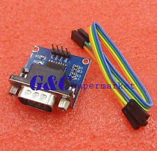 2PCS MAX3232 RS232 Serial Port To TTL Converter Male DB9 Connector COM Serial