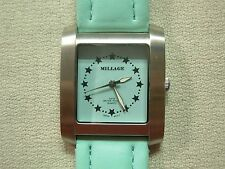 MILLAGE SEA FOAM GREEN STAINLESS STEEL 3ATM WATERPROOF QUARTZ WRIST WATCH