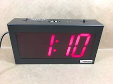 American Time & Signal Co. 4 Digit Stand Alone Digital Clock - 12 & 24 Hour Time