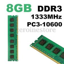 8GB (1x8gb) DDR3 1333MHz PC3-10600 DIMM RAM Memoria Memory 240pin AMD Desktop PC