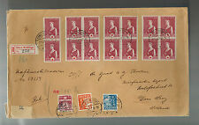 1942 censored Store Heddinge Denmark Oversize Registered Cover to Holland