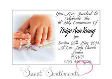 Pack de 10 personnalisé 1er sainte communion invitations-carte de style A6 brillant