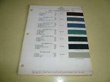 1946 Lincoln ACME Proxlin Color Chip Paint Sample