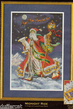 Midnight Ride Santa Dimensions Gold Collection Cross Stitch Kit Christmas 8617