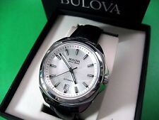 BULOVA ACCU-SWISS 63B184 TELC COLLECTION AUTOMATIC MEN'S WATCH S/S CASE LEATHER