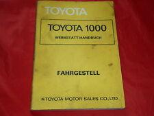 TOYOTA 1000 Werkstatt Handbuch Fahrgestell von 1977