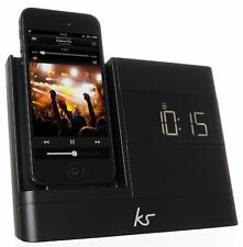 KitSound X-Dock2 LCD Display Clock Radio Dock with Lightning Connector for iPhon