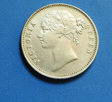 A  Rare coin of British India Queen Victoria 18401 Rupee  Silver Coin.