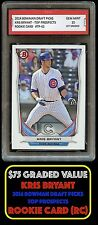 ($75) 2014 KRIS BRYANT BOWMAN PROSPECTS Topps 1ST GRADED 10 ROOKIE CARD RC CUBS