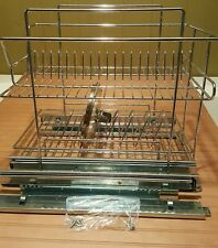 Mountable Two Tiered Kitchen  Dish/Pot Rack for Under Cabinet Storage. Chrome!