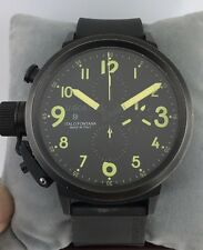 U-Boat Flightdeck 50MM Black PVD 1086 Automatic Chronograph Men's Watch