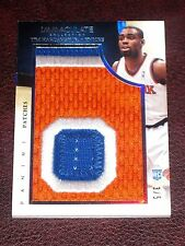 Tim Hardaway Jr. 2013-14 Panini Immaculate 3 Color Patch RC /5 Hawks Rookie