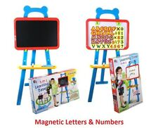 87Pc 3 in 1 Childrens Kids LEARNING EASEL Stand Chalkboard Magnetic White Board
