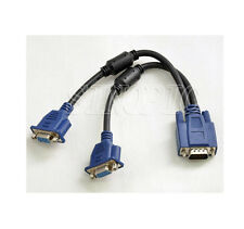 2 Monitor to 1PC VGA Y Splitter Female Extension Cable Connector For LCD Monitor