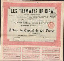 LES TRAMWAYS DE KIEW (BELGIQUE UKRAINE RUSSIE)  (D)