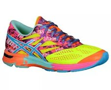 New Asics Women's GEL-NOOSA TRI 10 Running Shoes Yellow Turquoise Pink Size 7