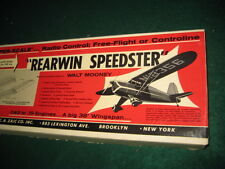 "#1 OLDER JETCO REARWIN SPEEDSTER 38"" FF CONTROL LINE RC BALSA MODEL AIRPLANE KIT"