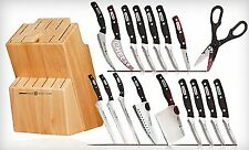 Miracle Blade World Class Series 18 Piece Set, Includes Knife Block